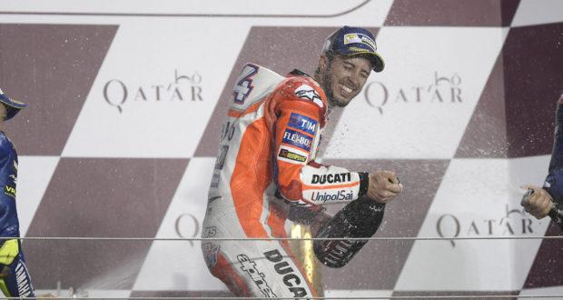 MotoGP 2017 Qatar - Podio per Andrea Dovizioso