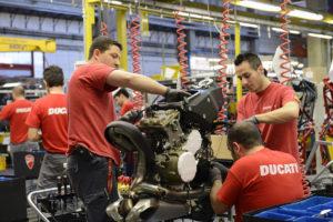 Visita alla Ducati - Catena di montaggio