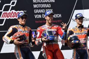 MotoGP 2017 Austria - Podio Andrea Dovizioso