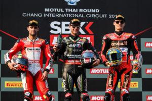 Superbike 2018 Thailandia - Podio Chaz Davies